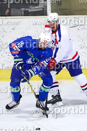 Ziga Pance of Slovenia during friendly ice hockey match between Slovenia and Croatia, on April 12, 2016 in Ledena dvorana, Bled, Slovenia. Photo By Matic Klansek Velej / Sportida