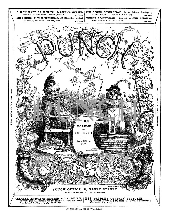 Punch front cover, 6 January 1949