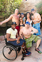 LAS VEGAS, NV - APRIL 29: Rob Gronkowski and Mojo Rawley at Rehab at The Hard Rock Hotel & Casino in Las Vegas, Nevada on April 29, 2017. Credit: GDP Photos/MediaPunch