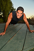 Stock photo of physically fit young man