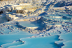 Pictures &amp; Image  of Pamukkale Travetine Terrace, Turkey. Images of the white Calcium carbonate rock formations. Buy as stock photos or as photo art prints. 4