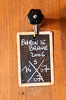 Fermentation tanks. Sign. Baron de Brane 2006. Chateau Brane Cantenac, Margaux, Medoc, bordeaux, France