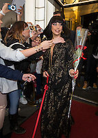 Lady Gaga coming out of the Steigenberger hotel in Brussels - Belgium - Exclusive