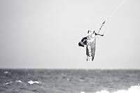 The last leg of the 2010 PKRA World Kiteboarding Tour has come to the Gold Coast, Australia - Alberto Rondina from Italy in action in a round of the single elimination freestyle.