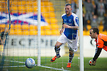St Johnstone v Hearts..15.12.12      SPL.Rowan Vine scores to make it 1-1.Picture by Graeme Hart..Copyright Perthshire Picture Agency.Tel: 01738 623350  Mobile: 07990 594431