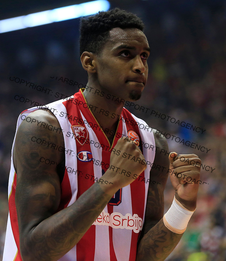 Kosarka Euroleague season 2015-2016<br /> Euroleague <br /> Crvena Zvezda v Real Madrid<br /> Quincy Miller reacts<br /> Beograd, 27.11.2015.<br /> foto: Srdjan Stevanovic/Starsportphoto &copy;