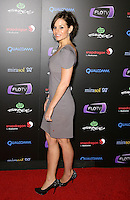 KARA DIOGUARDI.At SWAGG VIP Kid Rock Concert at the Joint inside the Hard Rock Hotel and Casino, Las Vegas, Nevada, USA,.7th January 2010..full length grey gray dress black shoes heels shoulder pads side .CAP/ADM/MJT.© MJT/AdMedia/Capital Pictures.