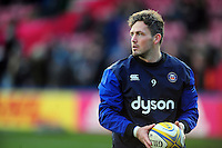 Darren Allinson of Bath Rugby looks on during the pre-match warm-up. Aviva Premiership match, between Harlequins and Bath Rugby on November 27, 2016 at the Twickenham Stoop in London, England. Photo by: Patrick Khachfe / Onside Images