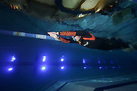 The first Norwegian freediving championship, held in Askinm, Norway..Steinar Schjager swimming DYN 126 meters..© Fredrik Naumann/Felix Features