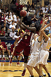 23 MAR 2012: Aslea Williams (5) of Shaw puts up a shot during the Division II Womens Basketball Championship held at Bill Greehey Arena in San Antonio, TX.  Shaw University defeated Ashland University 88-82 for the national title.  Rodolfo Gonzalez/ NCAA Photos