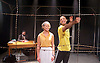 My Children! <br /> My Africa!<br /> by Athol Fugard <br /> at The Tristan Bates Theatre, Covent Garden, London, Great Britain <br /> 30th April 2015 <br /> <br /> Nathan Ives-Moiba as Thami <br /> Anthony Ofoegbu as Mr M <br /> Rose Reynold as Isabel <br /> <br /> directed by Roger Mortimer <br /> <br /> Photograph by Elliott Franks <br /> Image licensed to Elliott Franks Photography Services