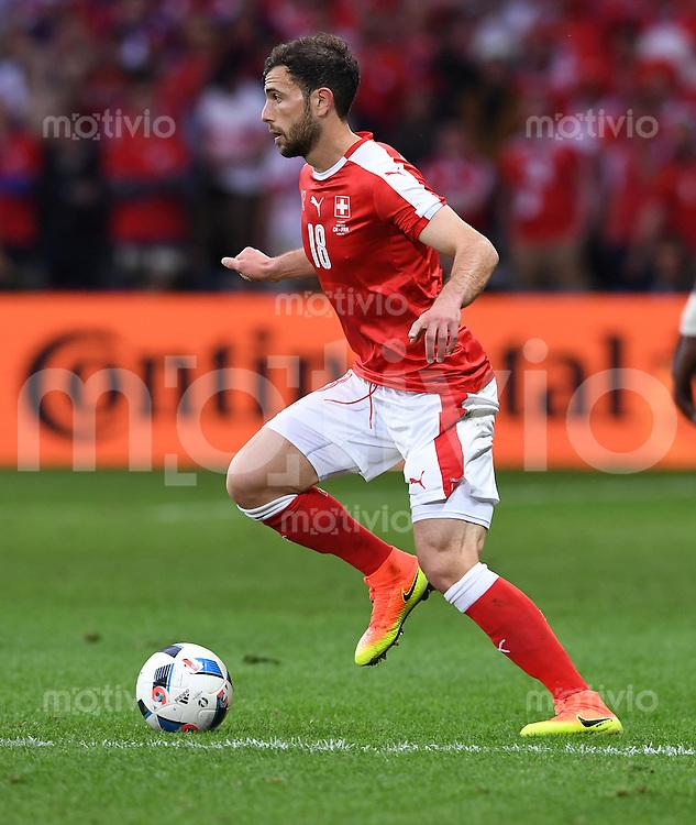 FUSSBALL EURO 2016 GRUPPE A IN LILLE Schweiz - Frankreich     19.06.2016 Admir Mehmedi (Schweiz)