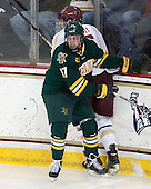 Patrick Wey (BC - 6), Jacob Fallon (UVM - 17) - The Boston College Eagles defeated the University of Vermont Catamounts 4-1 on Friday, February 1, 2013, at Kelley Rink in Conte Forum in Chestnut Hill, Massachusetts.