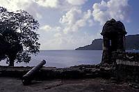 Fuerte Santiago, an 18th-century Spanish fort at Portobelo on the Cariibbean coast of Panama
