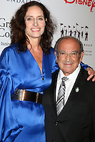 ANAHEIM, CA - NOVEMBER 01: Kristen Komoroske, Marty Sklar at The Walt Disney Family Museum Gala at Disneyland on November 1, 2016 in Anaheim, California. Credit: David Edwards/MediaPunch