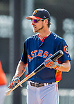 1 March 2017: Houston Astros outfielder Josh Reddick awaits his turn in the batting cage prior to Spring Training action against the Miami Marlins at the Ballpark of the Palm Beaches in West Palm Beach, Florida. The Marlins defeated the Astros 9-5 in Grapefruit League play. Mandatory Credit: Ed Wolfstein Photo *** RAW (NEF) Image File Available ***