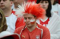 FUSSBALL  EUROPAMEISTERSCHAFT 2012   VORRUNDE Polen - Griechenland      08.06.2012 Enttaeuschter polnischer Fan