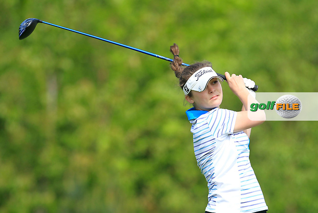 Megan Jenkins (ENG) on the 7th tee during Round 1 of the Irish Women's Open Strokeplay Championship at Dun Laoghaire Golf Club on Saturday 23rd May 2015.<br /> Picture:  Thos Caffrey / www.golffile.ie
