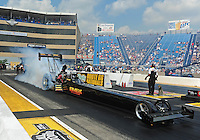 Jul, 10, 2011; Joliet, IL, USA: NHRA top fuel dragster driver Troy Buff during the Route 66 Nationals at Route 66 Raceway. Mandatory Credit: Mark J. Rebilas-