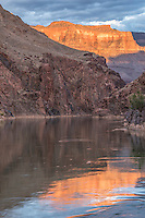 River reflections at Middle Granite Gorge, Grand Canyon National Park, Arizona