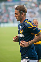 CARSON, CA – August 20, 2011: LA Galaxy midfielder David Beckham (23) prior to during the match between LA Galaxy and San Jose Earthquakes at the Home Depot Center in Carson, California. Final score LA Galaxy 2, San Jose Earthquakes 0.