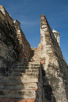 San Felipe de Barajas, spanish fortress (1657) ,It is the biggest Spanish fort in the New World, Cartagena de Indias, Bolivar Department, Colombia, South America.