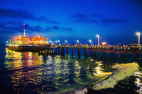 Santa Monica Pier by night. (Thursday, December 6, 2012)