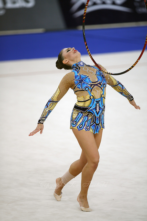 September 16, 2007; Patras, Greece;  Alina Kabaeva of Russia performs at 2007 World Championships Patras. Mandatory Credit: Photo by Tom Theobald.