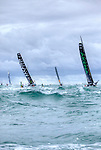 Start of the  Vendée Globe of the IMOCA Open 60 Alex Thomson Racing Hugo Boss in Les Sables d'Olonne, Vendée, France..The Vendée Globe is a round-the-world single-handed yacht race, sailed non-stop and without assistance.