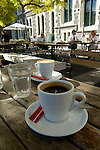 Coffee at an outdoor cafe, Christchurch, New Zealand