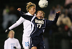 04 December 2009: North Carolina's Amber Brooks (22) and Notre Dame's Courtney Barg (17). The University of North Carolina Tar Heels defeated the Notre Dame University Fighting Irish 1-0 at the Aggie Soccer Complex in College Station, Texas in an NCAA Division I Women's College Cup Semifinal game.