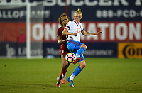 Frisco, TX - April 6, 2017: The U.S. Women's national team go up 4-0 over Russia in an international friendly match at Toyota stadium.