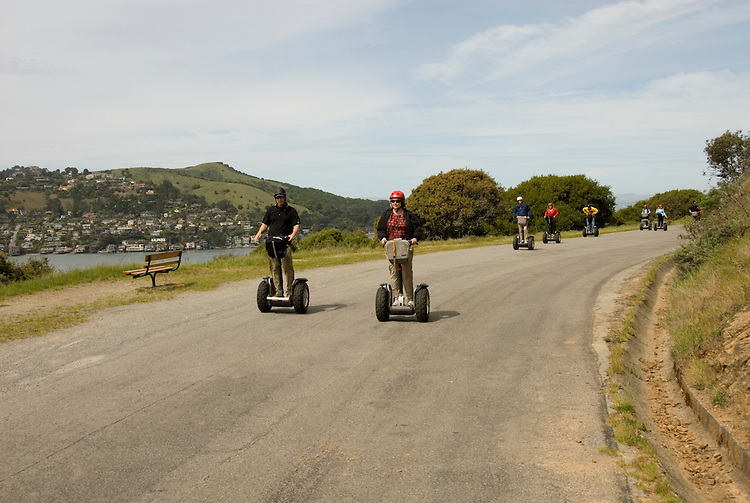 People on Segways on Angel Island in San Francisco Bay, California, CA..Photo camari227-70387..Photo copyright Lee Foster, www.fostertravel.com, 510-549-2202, lee@fostertravel.com