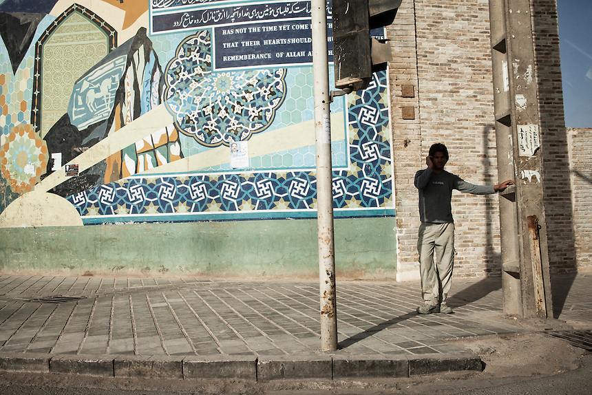 An Iranian man at the street of Yazd