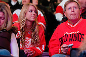 Red Wings fans during ice-hockey match between Los Angeles Kings and Detroit Red Wings in NHL league, February 28, 2011 at Staples Center, Los Angeles, USA. (Photo By Matic Klansek Velej / Sportida.com)