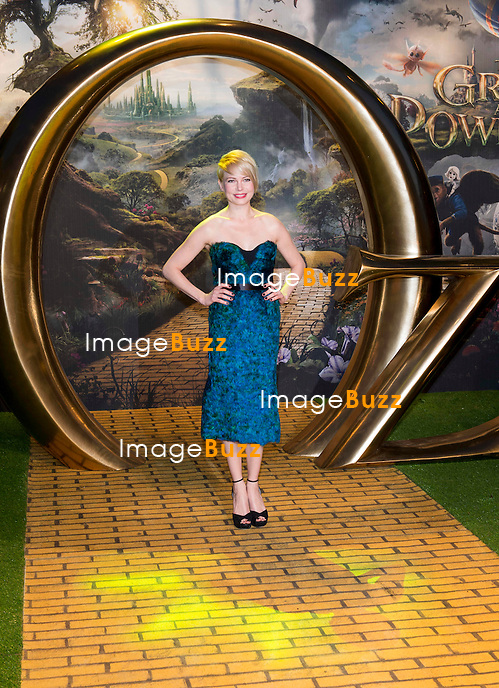 """Michelle Williams attends the UK premiere of """" Oz The Great And Powerful """" held at the Empire Leicester Square, in London. on February 28, 2013."""