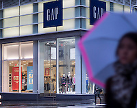 A Gap store in Lower Manhattan in New York on Monday, January 2, 2017.  The Gap is expected to release its December sales figures in January.  (© Richard B. Levine)