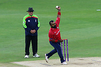 Ashar Zaidi in bowling action for Essex during Kent Spitfires vs Essex Eagles, Royal London One-Day Cup Cricket at the St Lawrence Ground on 17th May 2017