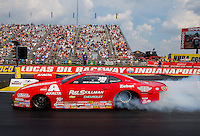 Sep 7, 2015; Clermont, IN, USA; NHRA pro stock driver Drew Skillman during the US Nationals at Lucas Oil Raceway. Mandatory Credit: Mark J. Rebilas-USA TODAY Sports