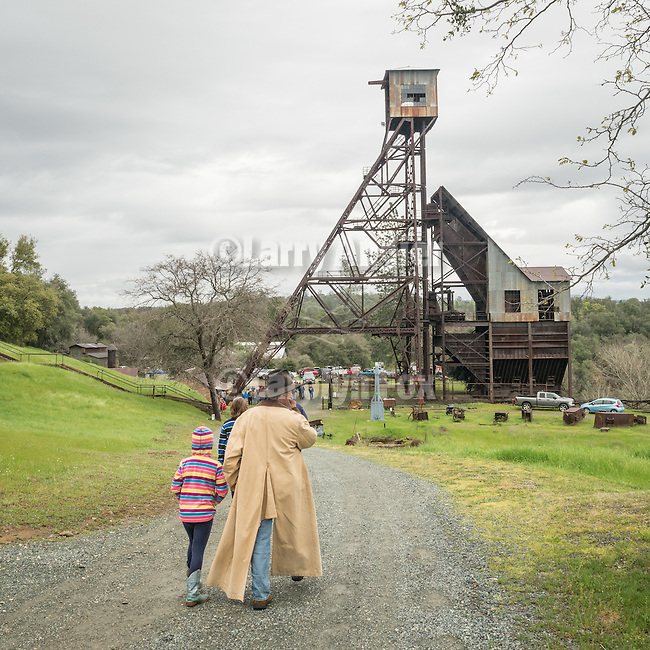 Kennedy Mine during the head frame dedication by the members of E. Clampus Vitus, the Clampers, during its spring open house, March 5, 2016, Jackson, Calif.