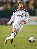 CARSON, CA – July 9, 2011: LA Galaxy midfielder David Beckham (23) during the match between LA Galaxy and Chicago Fire at the Home Depot Center in Carson, California. Final score LA Galaxy 2, Chicago Fire FC 1.
