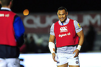 Robbie Fruean of Bath Rugby looks on from the sidelines. Aviva Premiership match, between Newcastle Falcons and Bath Rugby on January 6, 2017 at Kingston Park in Newcastle upon Tyne, England. Photo by: Patrick Khachfe / Onside Images