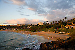 The beach at sunset in Wailea, Maui