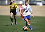 Duke's Elisabeth Redmond on Saturday, March 3rd, 2007 on Field 1 at SAS Soccer Park in Cary, North Carolina. The University of Florida Gators played the Duke University Blue Devils in an NCAA Division I Women's Soccer spring game.