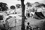 A tent city made up of people displaced by the recent earthquake in Port-au-Prince, Haiti.