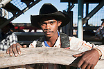Portrait of an indigenous cowboy.  Mareeba Rodeo, Mareeba, Queensland, Australia