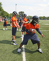 Virginia quarterback Jameel Sewell during open spring practice for the Virginia Cavaliers football team August 7, 2009 at the University of Virginia in Charlottesville, VA. Photo/Andrew Shurtleff