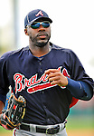 6 March 2011: Atlanta Braves' outfielder Jason Heyward returns to the dugout during a Spring Training game against the Washington Nationals at Space Coast Stadium in Viera, Florida. The Braves shut out the Nationals 5-0 in Grapefruit League action. Mandatory Credit: Ed Wolfstein Photo