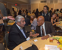 NEW YORK, NY - APRIL 3: Harry Belafonte, Charles B. Rangel pictured as David N. Dinkins, 106th Mayor of the City of New York, receives the Dr. Phyllis Harrison-Ross Public Service Award for a lifetime of public service at the New York Society of Ethical Culture in New York City on April 3, 2014. Credit: Margot Jordan/MediaPunch