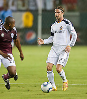 CARSON, CA – September 9, 2011: LA Galaxy midfielder David Beckham (23) during the match between LA Galaxy and Colorado Rapids at the Home Depot Center in Carson, California. Final score LA Galaxy 1, Colorado Rapids 0.